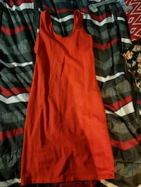 Orange size M. Medi dress with split.  Baltimore