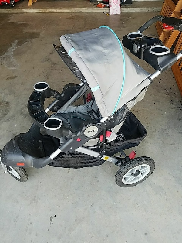 Used Babys Black And Gray Jeep Jogging Stroller For Sale In Fort