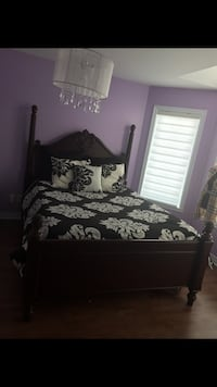 black and white floral printed bed sheet set