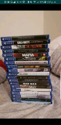 assorted Sony PS4 game cases Alexandria, 22304