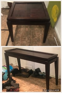Matching sofa/console and side table