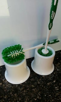 Toilet bowl brush with caddy. Tucson, 85705