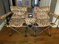 Double Seat Animal Print Toddler Chair