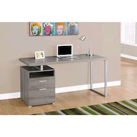 NEW 60 inch Monarch Computer Desk, Dark Taupe (I7145) Dented Montreal