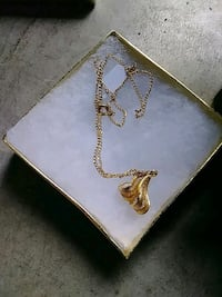 Gold feather necklass Surrey, V3S 7R2