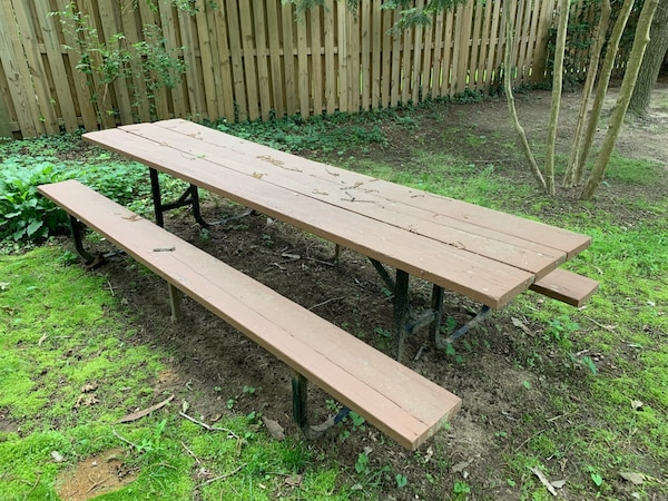 9ft Wood Picnic Table
