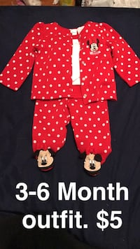 toddler red and white minnie mouse blazer set New Berlin, 53151