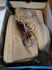 pair of brown Nike SF Air Force 1 shoes with box Dumfries, 22025