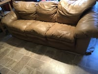 Tan all leather couch and sofa Chesapeake, 23322