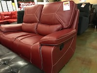 Ashley Red Leather Reclining Love Seat Phoenix, 85018