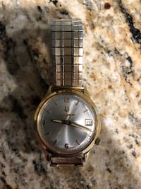 Round gold-colored analog watch with link bracelet Keller, 76262