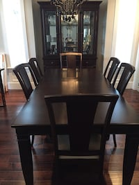 Dining room set with table chairs and hutch Surrey, V3S 9L7