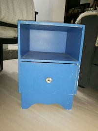 blue wooden nightstand Burnaby, V5J 2J4