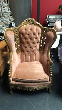 Victorian chair seat throne carved ornate tufted velvet Carlsbad, 92008