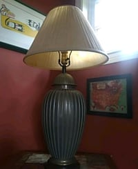 brown and white table lamp Glenwood