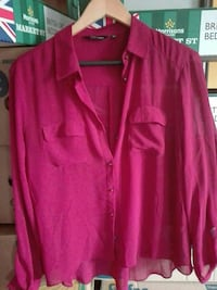 women's pink long sleeved button-up blouse St Andrews, KY16 8HE