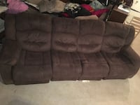 Brown fabric 3-seat sofa Pasadena, 91106