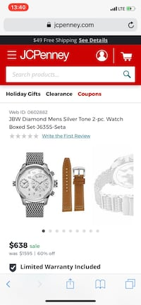 round silver-colored chronograph watch with link bracelet screenshot Orlando, 32817