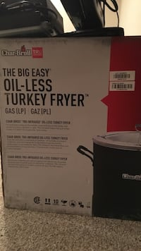 Char-broil the big easy oil less turkey fryer Dundalk, 21222