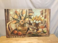 brown and green flower painting Dallas, 30157