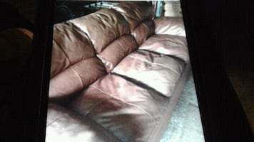 Brown leather couch great piece of furniture