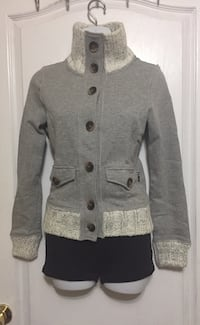 Grey Button up Sweater: Ladies size Xs  Toronto, M6G
