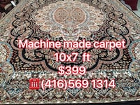 Red and white floral area rug,machine made 10x7ft  Richmond Hill, L4E 4G4