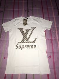 t-shirt bianca Louis Vuitton Supreme Monteviale, 36050