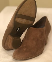 pair of brown suede boots Spring, 77380