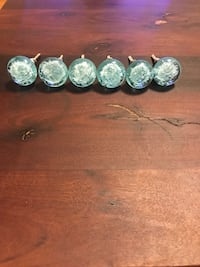 Light blue glass furniture knobs from Anthropologie - set of 6 Los Angeles, 90025