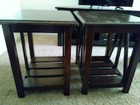 two brown wooden side tables Wichita, 67212