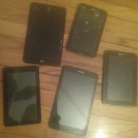 5 black assorted tablets, for parts Winnipeg, R3B 2P8