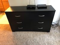 black wooden 6-drawer lowboy dresser Los Angeles, 91367