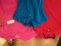 blue and red polo shirts and pink v-neck shirt Fredonia, 14063