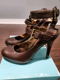 Marciano brown leather heels Brampton
