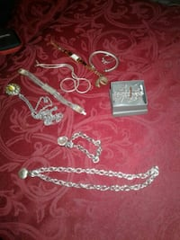 silver and green necklace and earrings Lexington, 40503