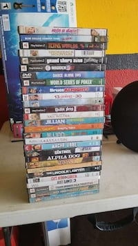 Assorted movies and play station 2 games