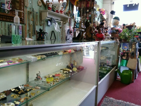 Two display glass cabinets plus extras $200