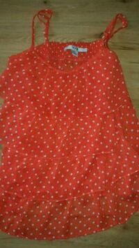 red and white polka dot sleeveless dress Selkirk, R1A 0Z3