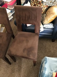 brown wooden framed brown padded chair Herndon, 20170