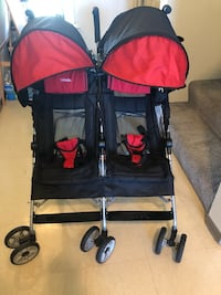 Baby's red and black twin stroller 檀香山, 96818