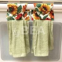 Two (2) Sunflowers Kitchen Towels - green  Tampa, 33612