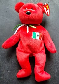 TY Beanie Babies Osito Red Teddy Bear with Italian Flag /Retired 1999 /Vintage /Rare