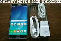 Galaxy Note 5 UNLOCKED 32GB w/ Accessories  Arlington