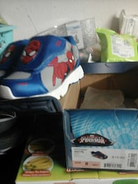 Toddler's blue, gray and red spider-man slip ons size 8 Riverside, 92501