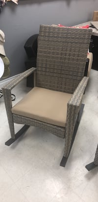 brown wooden framed gray padded armchair San Diego, 92111