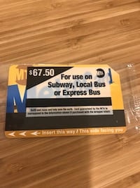 MetroCard never used or opened New York, 11375