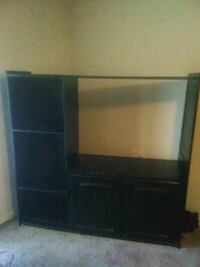 black wooden TV hutch with flat screen television North Little Rock, 72118
