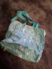 Baby blue blow-up tote bag