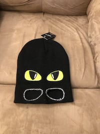Winter hat with glow in the dark eyes, & eye holes. Toronto, M2N 2T5